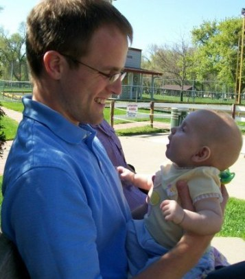 Dustin cradling his niece?